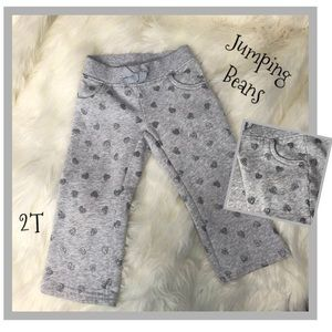 Jumping Beans 2T Pants Sweat Togs & Hearts Bling!